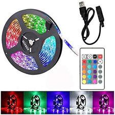 5V SMD 5050 USB LED Strip Light Remote TV Background RGB Flexible Tape Lamp DE