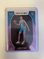 2020-2021 Panini NBA Hoops LaMelo Ball Purple Explosion SSP Rookie Card