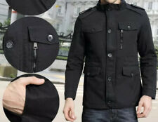 Zicac Men's Black Cotton Jacket Military Army Officer  Size L/XL