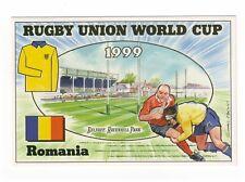 1999 RUGBY UNION WORLD CUP BRIAN LUND POSTCARD IRELAND v ROMANIA LANSDOWNE ROAD