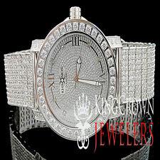 New Mens White Khronos JoJino/JoJo/Joe Rodeo One Row Bezel Genuine Diamond Watch