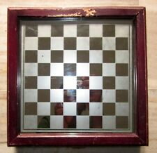 Antique Glass Chess Board With Box Old Collectible Chess Game Board