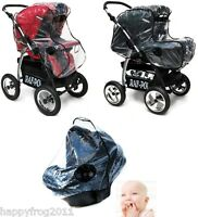 Universal Strong Transparent RAINCOVER for the BABY CAR SEAT PRAM BUGGY STROLLER