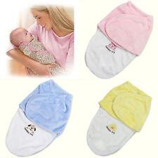 Newborn Kids Baby Warm Cotton Swaddling Blanket Sleeping Bag Swaddles Warp UK
