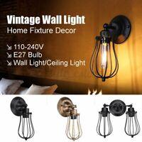 E27 Industria Vintage Wall Light Home Bar Sconce Ceiling Lamp Fixture Decor