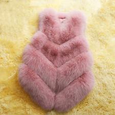 Women's Faux Fur Sleeveless Jacket Ladies Winter Warm Gilet Vest Waistcoat Coat