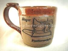 SINGER FEATHERWEIGHT THEMED POTTERY STONEWARE MUG  -  Color: Antique ROSE