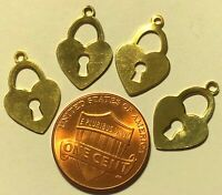GC795 6 Honeycomb Connector Charms Gold Tone 2 Sided
