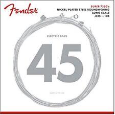 Fender 7250M Bass Guitar Strings Nickel Plated Steel Roundwound - Medium 45-105