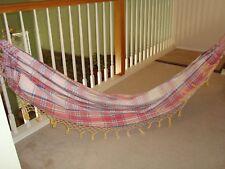 """Brazilian hammock hammaka made in Amazon rain-forest, cotton, 84"""""""