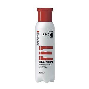 Goldwell Elumen Hair Color RV@ALL Red Violet 6.7oz / 200ml ammonia peroxide free