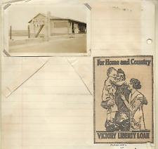 WORLD WAR I ORIGINAL PHOTO FORT SCHUYLER USA RESERVATION  & VICTORY LOAN AD