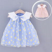 Toddler Kids Baby Girls Fly Sleeve Embroidery Tutu Princess Dress Clothes