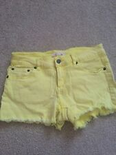 Forever 21 Yellow Coloured Denim Shorts Size 27