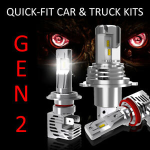 LED Headlight Conversion Kit - H9 Upgrade Bulbs - 300% Brighter - Quick Fit GEN2
