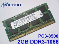 2GB DDR3-1066 PC3-8500 SO-DIMM 204pin MEMORIA PORTATILE LAPTOP MEMORY SODIMM RAM