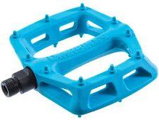 DMR V6 Pedals Flat Platform MTB Bicycle Bike Dual DU Bushings 327g Blue Nylon