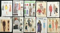 Lot of 10 Women's Sewing Patterns - Vogue, McCall's, Butterick, Simplicity