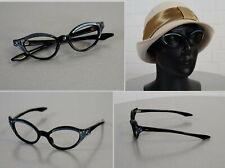 Frame France Cat Eye Brille Lesebrille Rockabilly Ära Blau Schwarz 50er Jahre