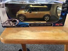Collector's Special Edition 1:18 Scale Gold MINI COOPER WITH SUN ROOF By Maisto