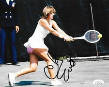 Chris Evert signed Womens Tennis 8x10 photo Wimbledon Grand Slam Champion 5 JSA