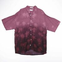 Vintage PIERRE CARDIN Purple Palm Tree Printed Shirt Size Men's XL