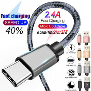 USB-C 3.1 Type-C Fast Data Sync Charging Charger Cable For Android Mobile Phones