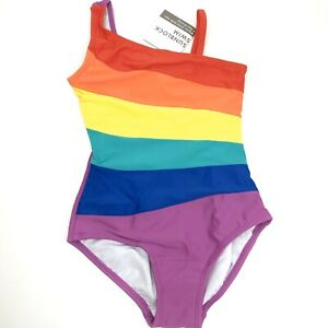 NWT Hanna Andersson Rainbow Swimsuit Girls Size US 5 / Euro 110 One Piece