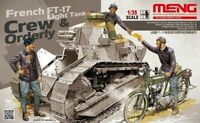 Meng Model 1:35 scale model kit  FT-17 French Tank Crew and Orderly MNGHS-005