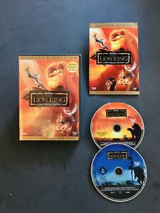 Disney The Lion King (DVD, 2003) 2 Disc Platinum Edition DVD Release With Insert