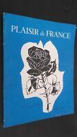 REVUE MENSUELLE PLAISIR DE FRANCE AOUT 1956 N° 214 ABE