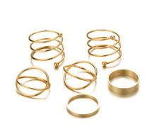 Silver/Gold Boho Stack Plain Above Knuckle Ring Midi Finger Tip Rings Set