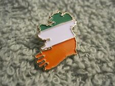 Ireland Map Pin Emerald Isle Tri/Color Badge Ireland Sinn Fein AOH