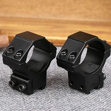2Pcs Low Profile 30mm Rifle Laser Torch Scope Mount Rings for 11mm Dovetail Rail