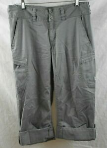 Women's The North Face 3/4 Length Pants Size 8 Trousers Roll Up Gray Activewear