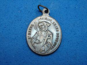 Jolie ancienne médaille, Saint Bruno, Marie, 1830