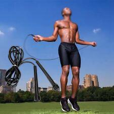 2PCS Skipping Rope Nylon Adjustable Jump Boxing Fitness Speed Rope Training Gym