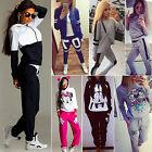 2PCS Tracksuit Set Womens Hooded Sweatshirt Jumper Jogger Sweat pants Sportswear