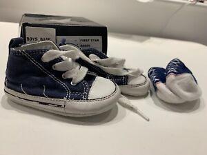 Converse Infant Crib Shoe Size 3 Boys Blue