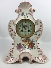 French Porcelain Mantel Clock by Vincent & Company Case By H. Boulanger 1890's