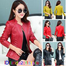 New Spring Women leather jacket women leather jacket zip jacket coat 607