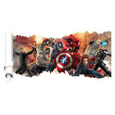 Unbranded Superheroes Children's Bedroom Wall Stickers