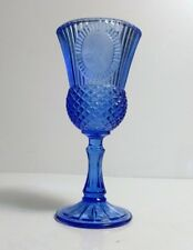 Vintage Blue Fostoria Avon George Washington Cameo Goblet