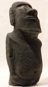 MYSTIC MOAI Easter Island statue with authentic carvings - handmade stone statue