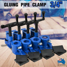"""4 Sets 3/4""""Gluing Pipe Clamp Woodworking Vice Tools Wide Surface Protect Pads AU"""