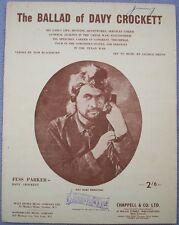 BALLAD OF DAVY CROCKETT Vintage Sheet Music New Zealand WALT DISNEY Disneyland