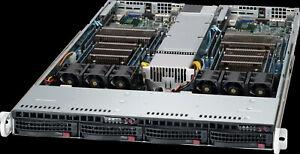 Supermicro 1U 2 Node X9DRT-F 4 Bay LFF 4x Xeon E5-2670 V2 40 Core 2.5Ghz 128GB