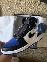 Air Jordan 1 High Retro OG Royal Toe GS Size 4.5Y 100% Authentic