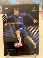 2020-21 Topps UEFA UCL CHRISTIAN PULISIC CHELSEA USMNT KNOCKOUT CARD 26 PR 9072!