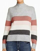 beachlunchlounge Women's Sweater Gray Size XL Colorblock Mock Neck $68 #861